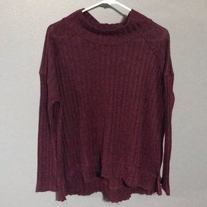 Free People Clarissa Ribbed Mock Neck Pullover